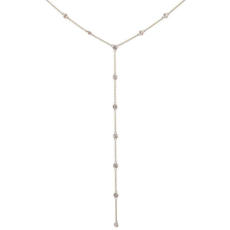 "Sophia by Design ""Y"" Station Diamond Necklace"