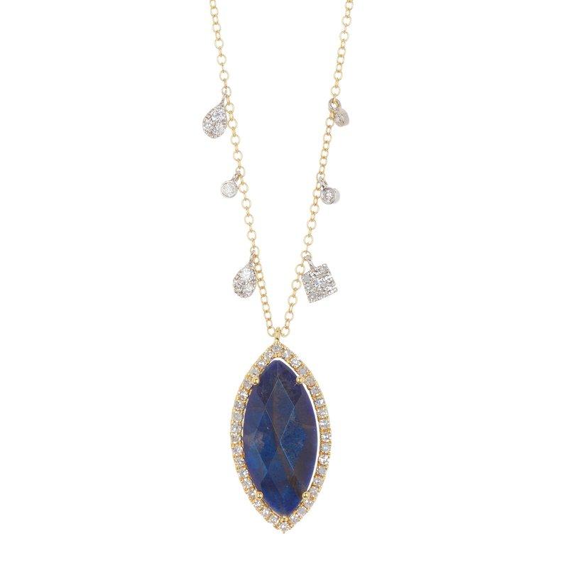 Meira T Labradorite & Diamond Halo Necklace