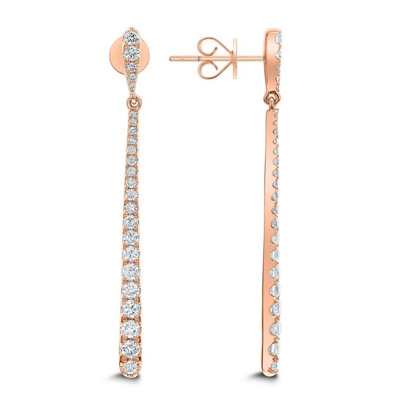 London Gold Designs Diamond Bar Dangles 18KR