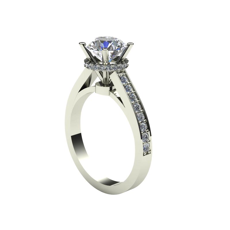 Daniels Designs Halo Diamond Engagement Ring