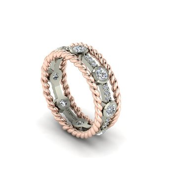 Open Diamond Eternity Band