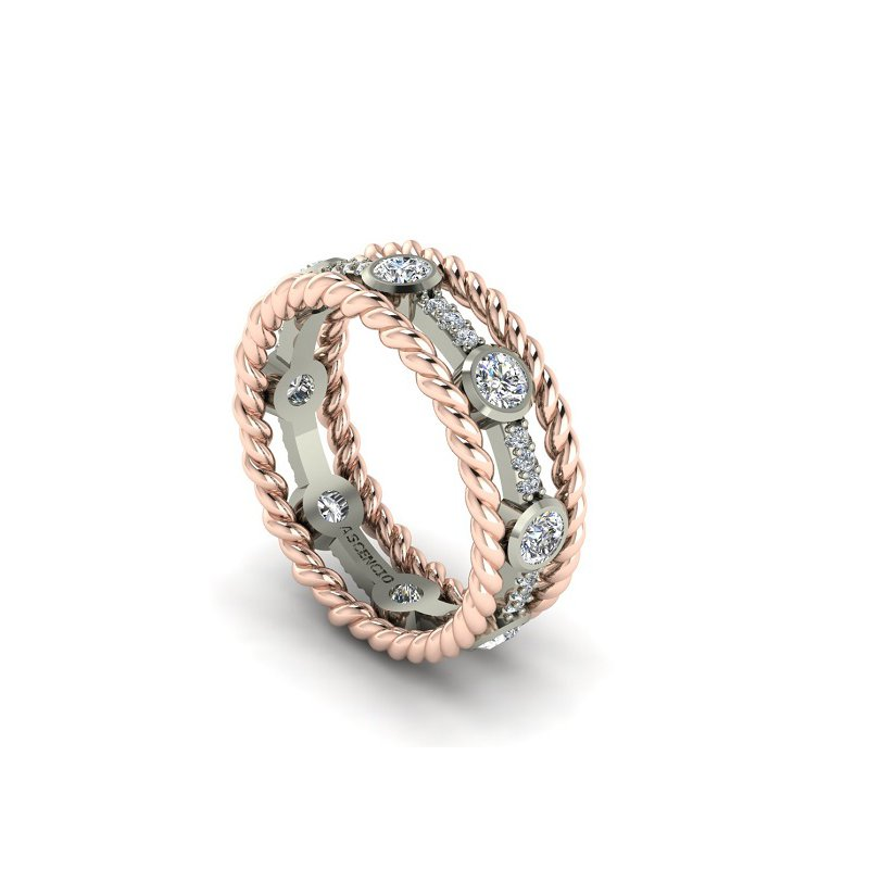 Ascencio Designs Open Diamond Eternity Band