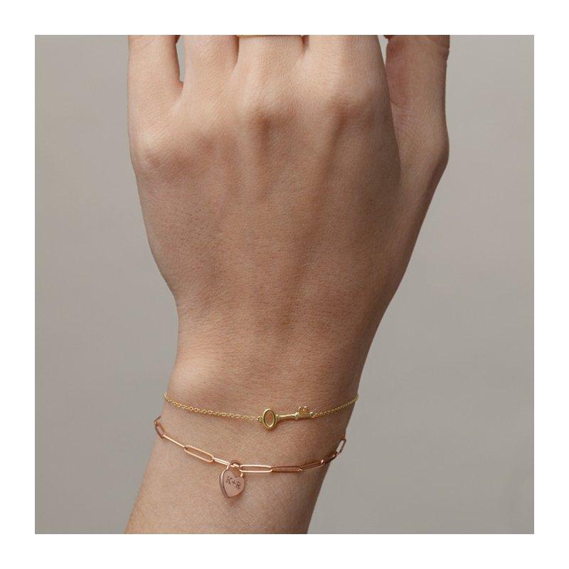 Gallery Designs Petite Key Bracelet 14KY