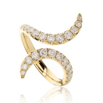Bypass Diamond Ring 18KY