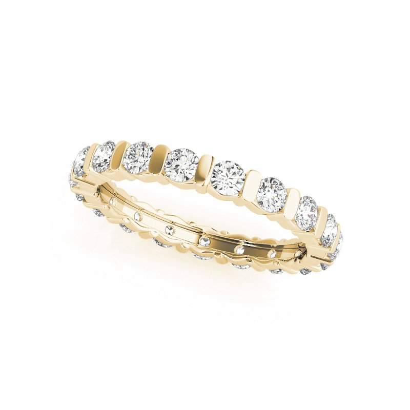 London Gold Designs Bar Channel Eternity Band