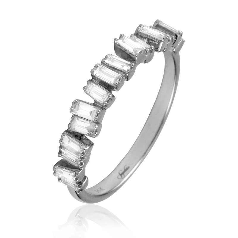Sophia by Design Off Set Baguette Diamond Band