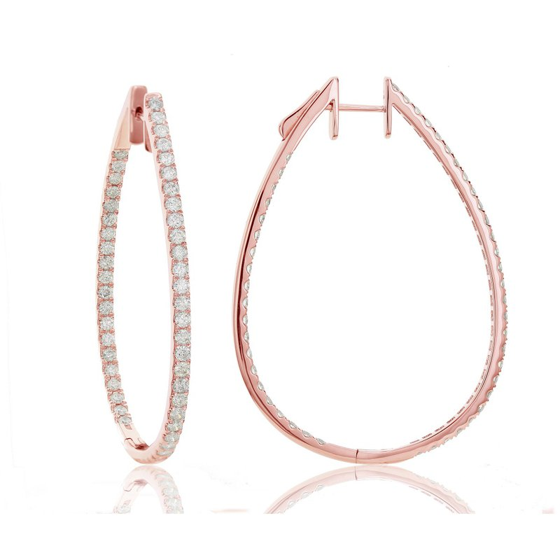 Odelia Jewelry Diamond Inside-Out Hoops 18KR