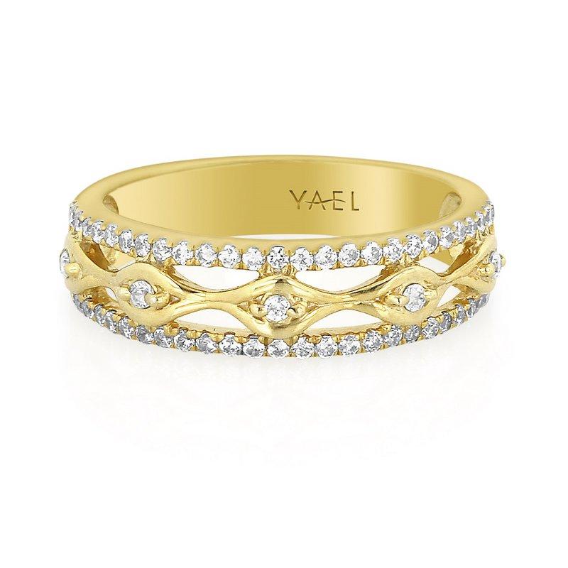 Yael Designs Openwork Diamond Band 18KY