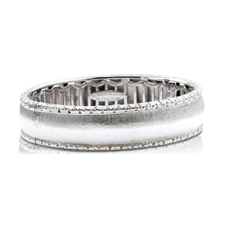 Estate Jewelry Roberto Coin Bangle 18KW