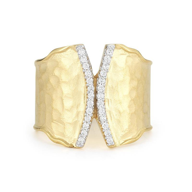 I. Reiss Hammered Ring 14KY