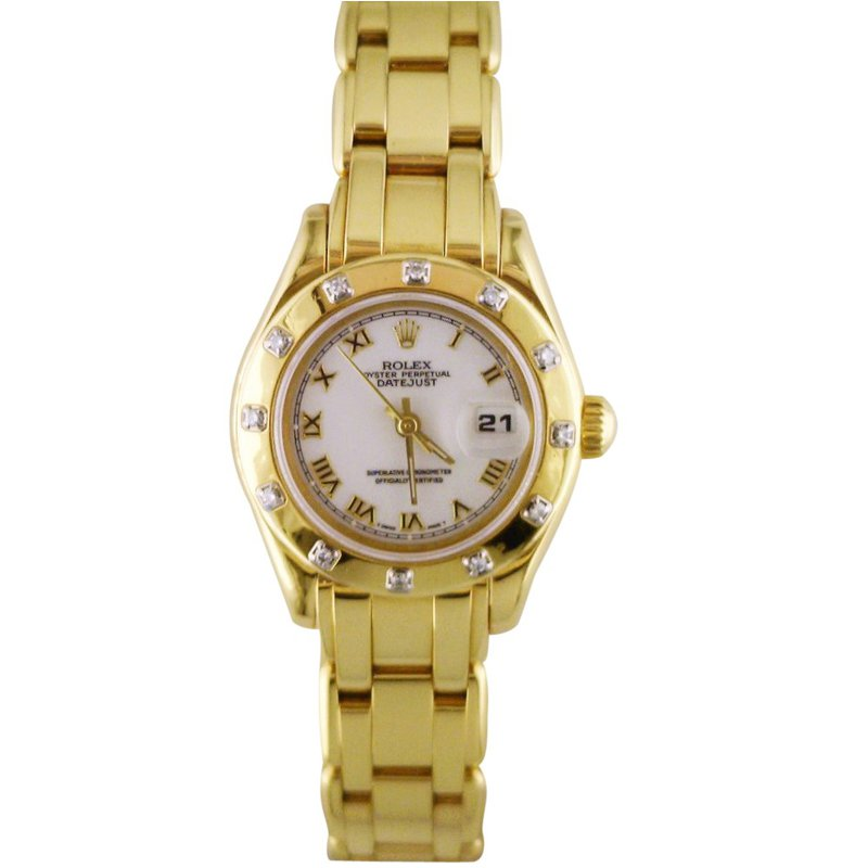 Rolex Pre-Owned Watches Lady Pearlmaster 18KY 69318