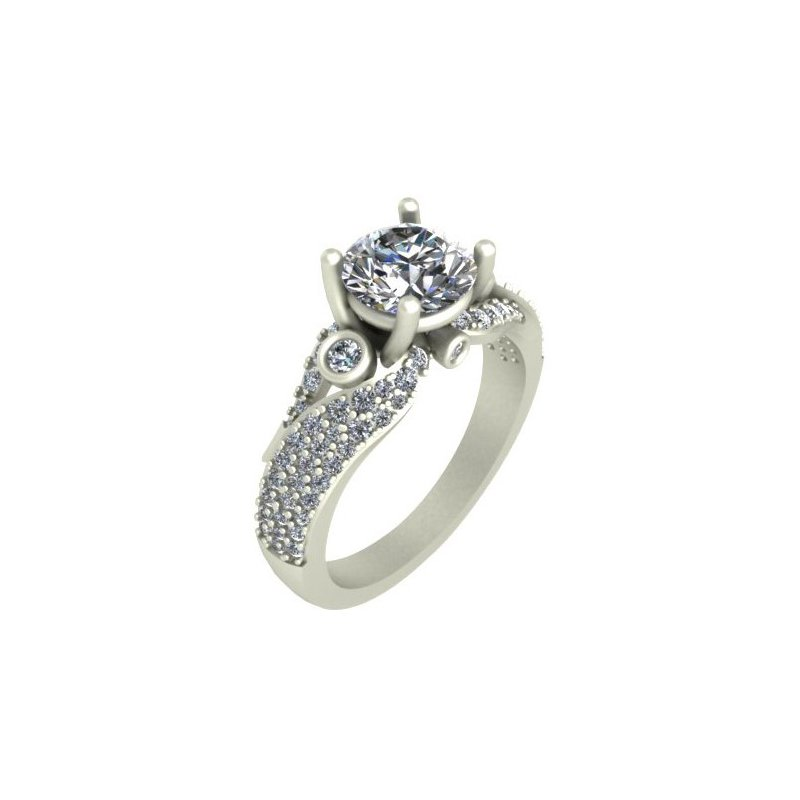 Isadora Vintage Diamond Engagement - Setting Only
