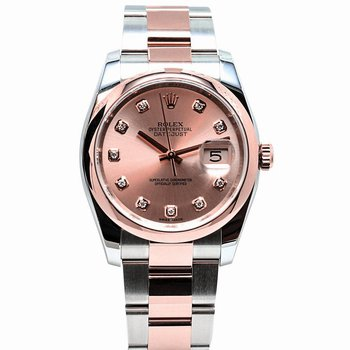 Datejust 18K Everose Pink Diamond Dial