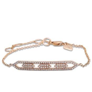 Open Diamond ID Bracelet 14KR