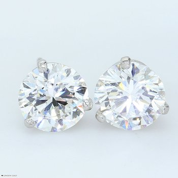 3.00ct Round Brilliant Diamond Studs