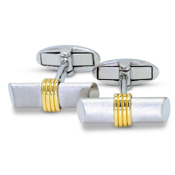 Satin Finish Cuff Links 14K