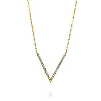 'V' Necklace 18KY
