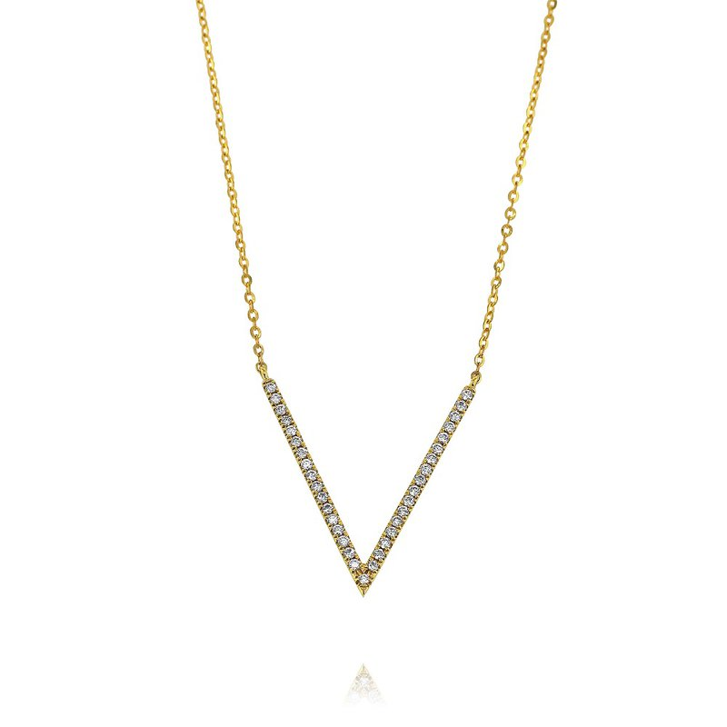 Yael Designs 'V' Necklace 18KY