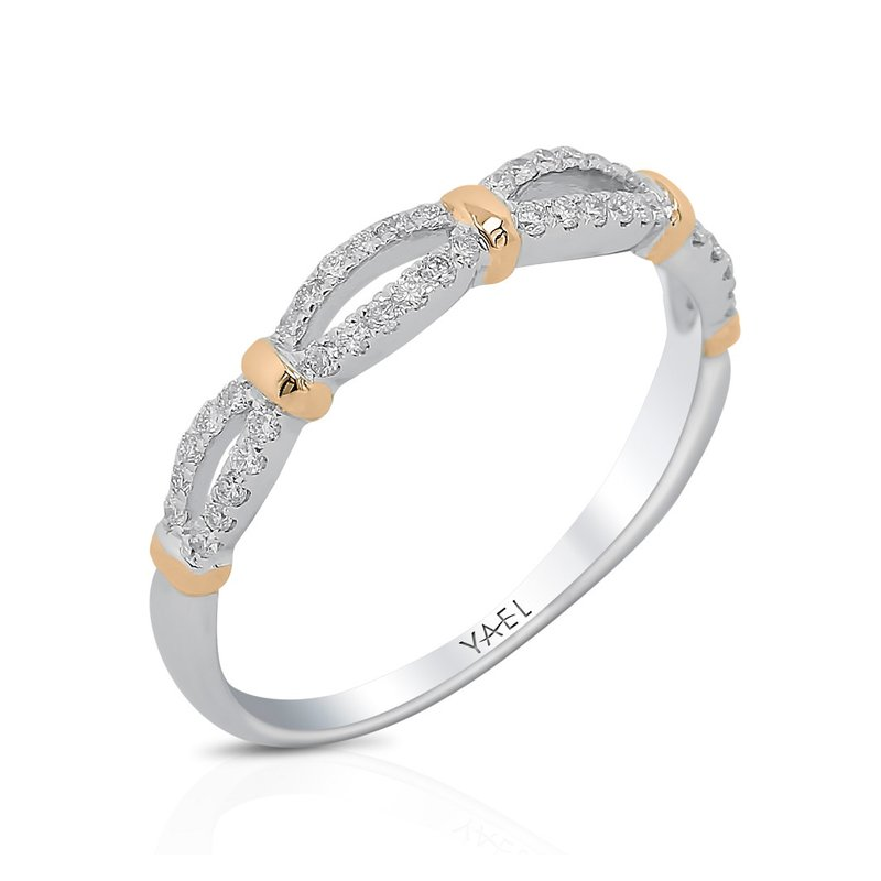 Yael Designs Open Work Diamond Band 18K