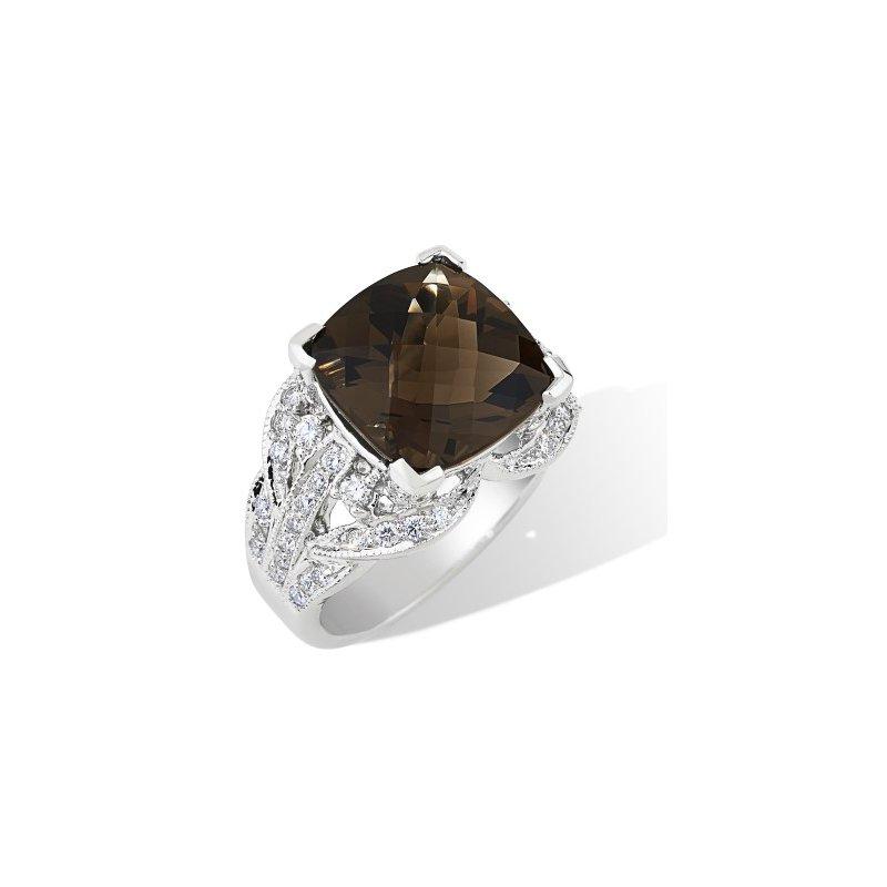 London Gold Designs Smokey Quartz Gemstone Ring