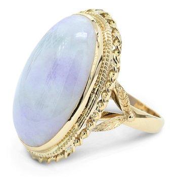 Jade Ring 14KY