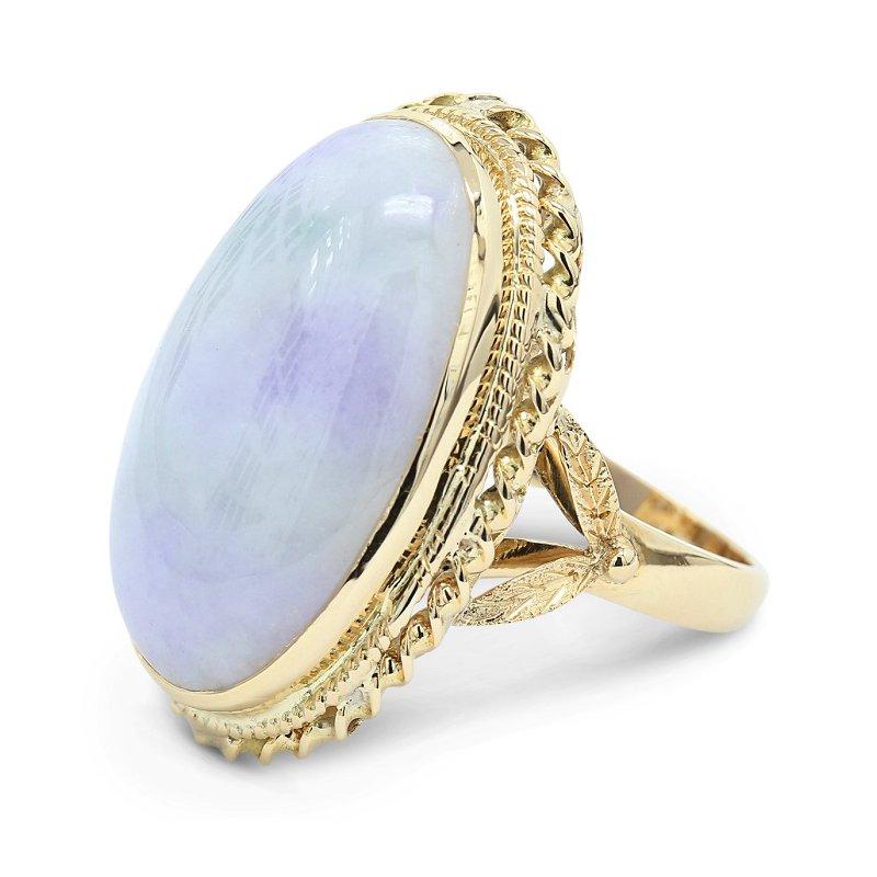 Estate Jewelry Jade Ring 14KY