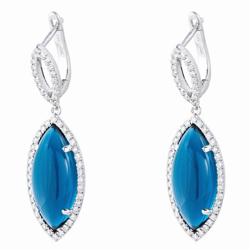 Sophia by Design London Blue Topaz Dangles