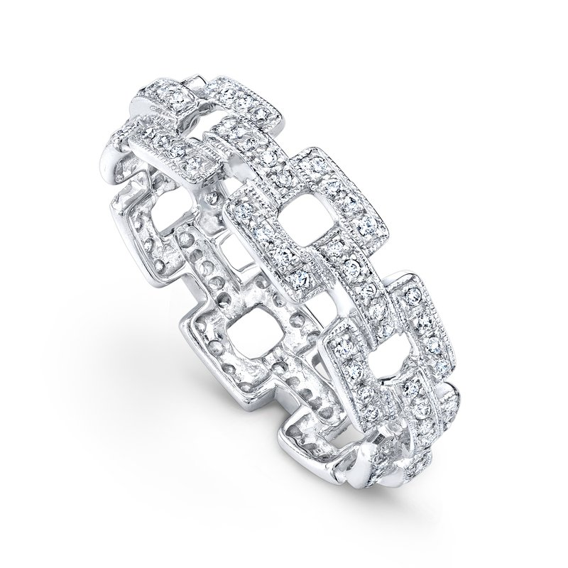 Beverley K Chain Link Eternity Band