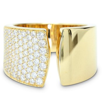 Split Pave Diamond Ring 18KY