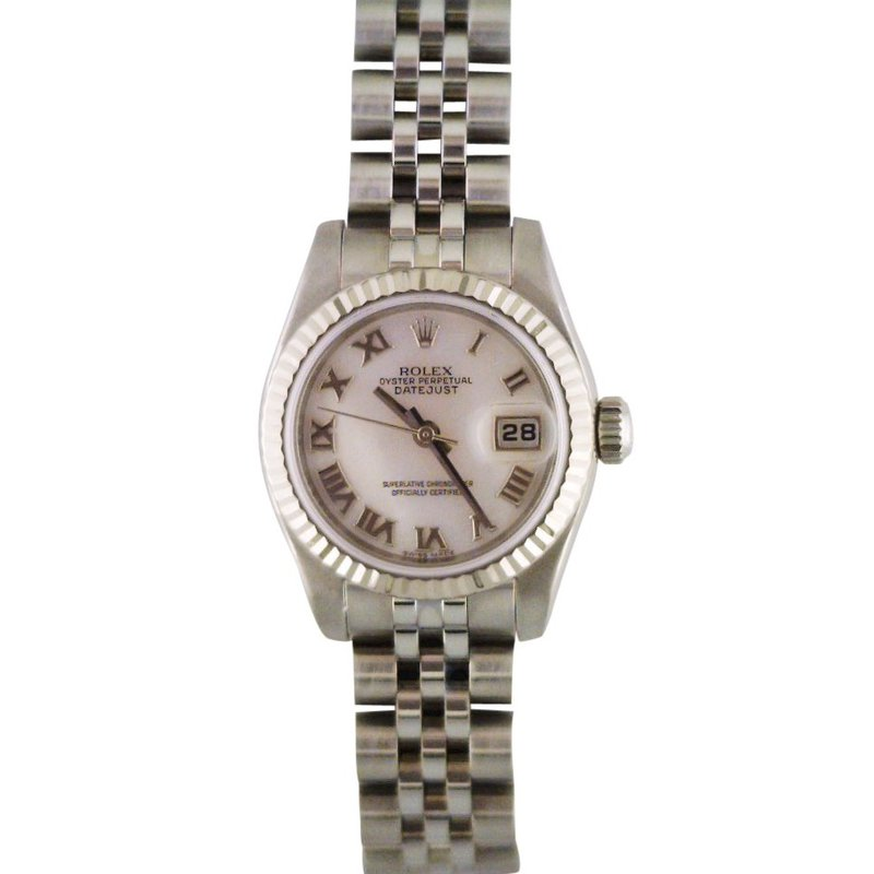 Rolex Pre-Owned Watches Lady Datejust Steel & 18KW 179174