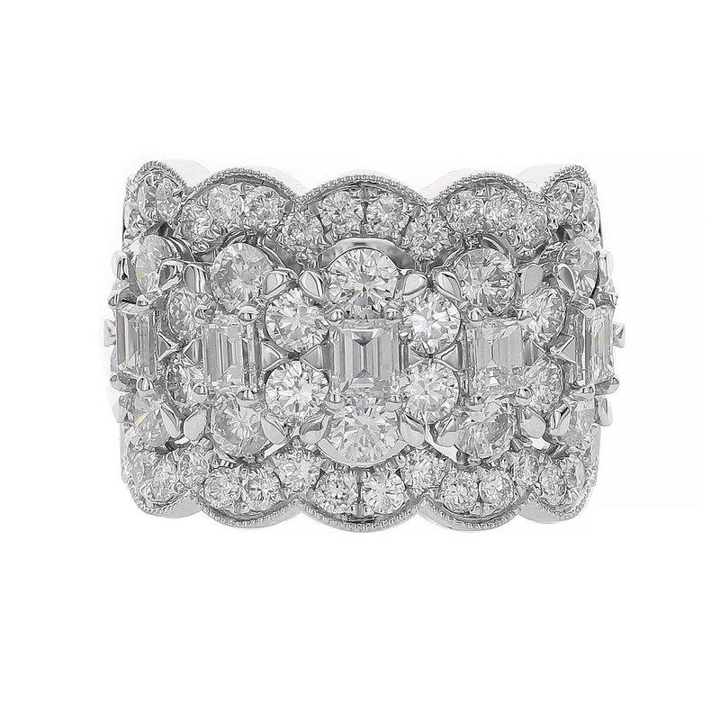 Odelia Jewelry Scalloped Diamond Band 18KW