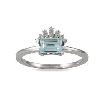 Blue Topaz Ring 18KW