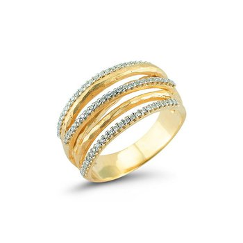14K-Y GALLERY RING, 0.40CT
