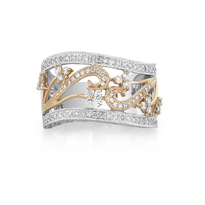 Yael Designs Vinca Ring 18k White & Rose