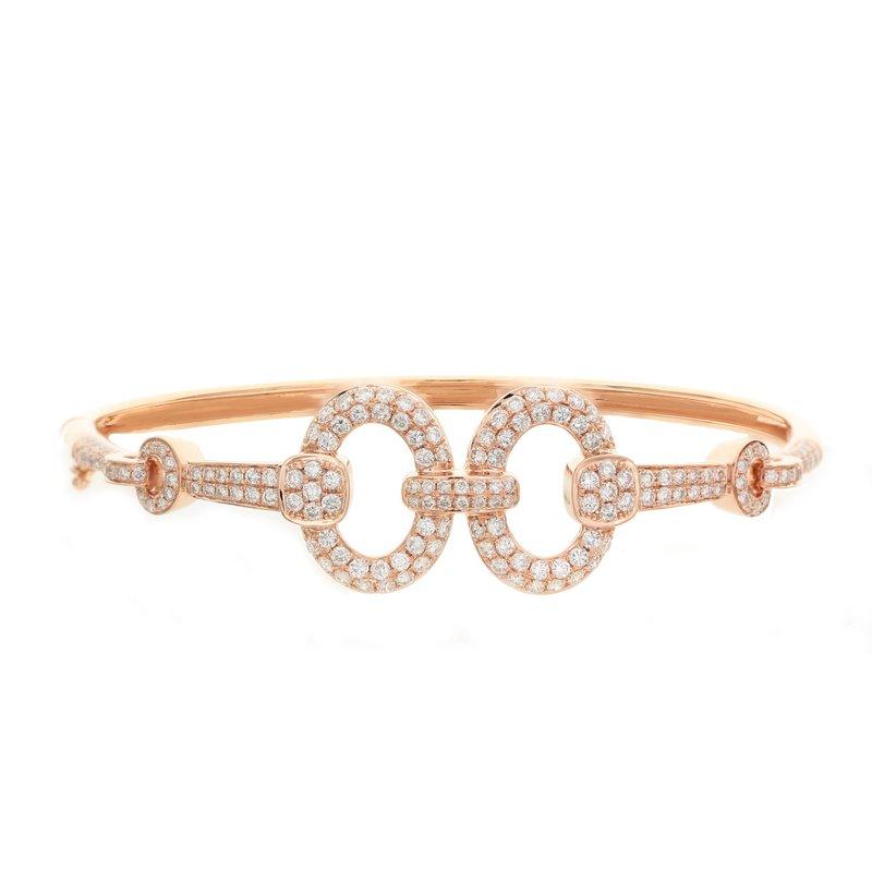 Odelia Jewelry Open Diamond Circles Bangle 18KR