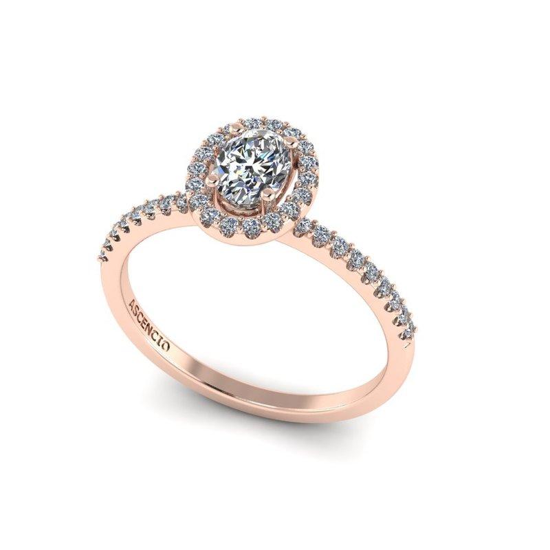 Ascencio Designs Halo Engagement Ring