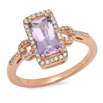 Beverley K Vintage Halo Morganite Ring