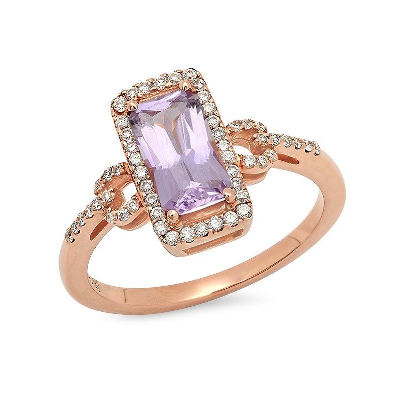 Beverley K Beverley K Vintage Halo Morganite Ring