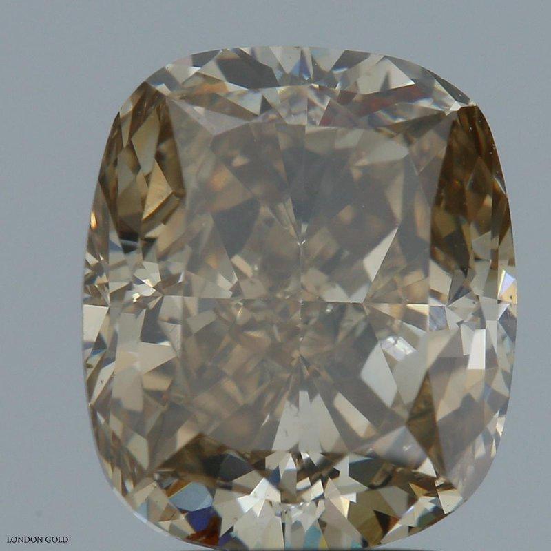 Colored Diamonds Cushion 3.02 Fancy Brown-Yellow-SI2