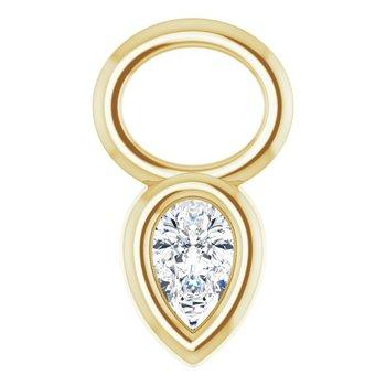 Diamond Bezel Hoop Charm 14KY