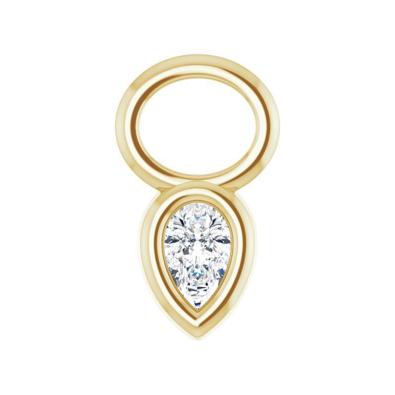 Gallery Designs Diamond Bezel Hoop Charm 14KY