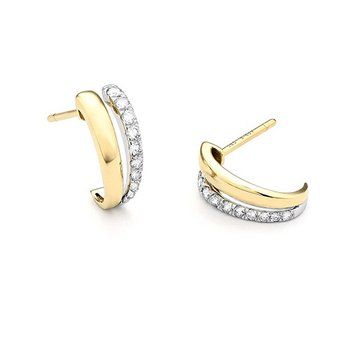 Diamond Huggie Earrings 14K