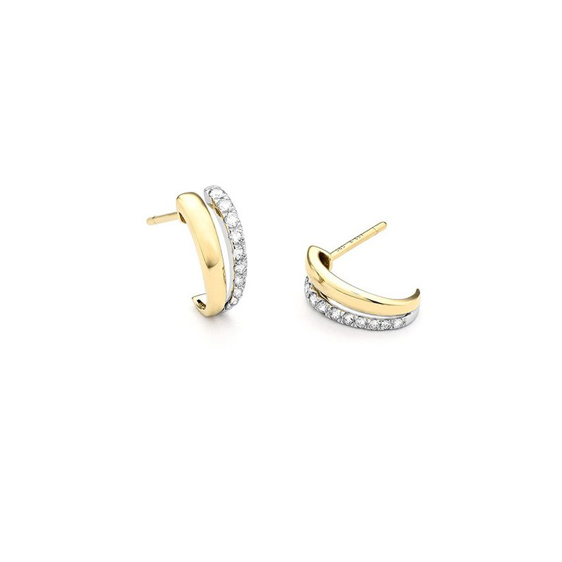 Facet Barcelona Diamond Huggie Earrings 14K