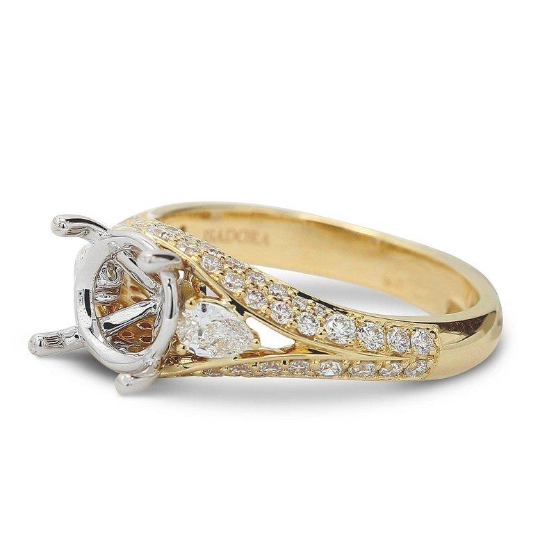 Isadora Vintage Style Engagement Setting 18KY