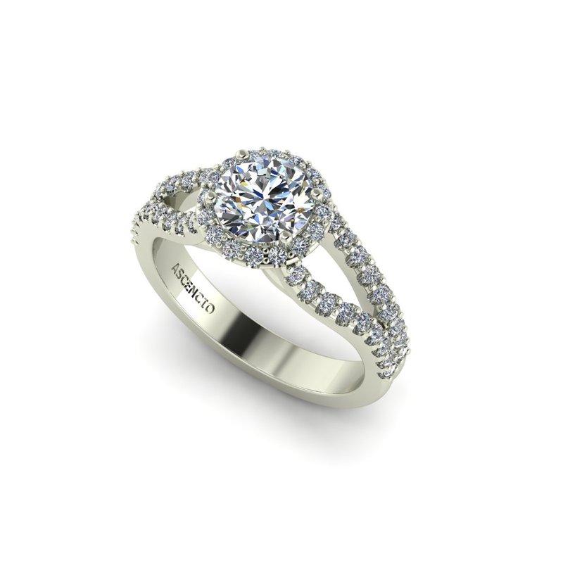 Ascencio Designs Split Style Engagement Ring Setting - Custom Order