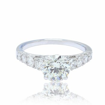 Cathedral Engagement Ring 18KW
