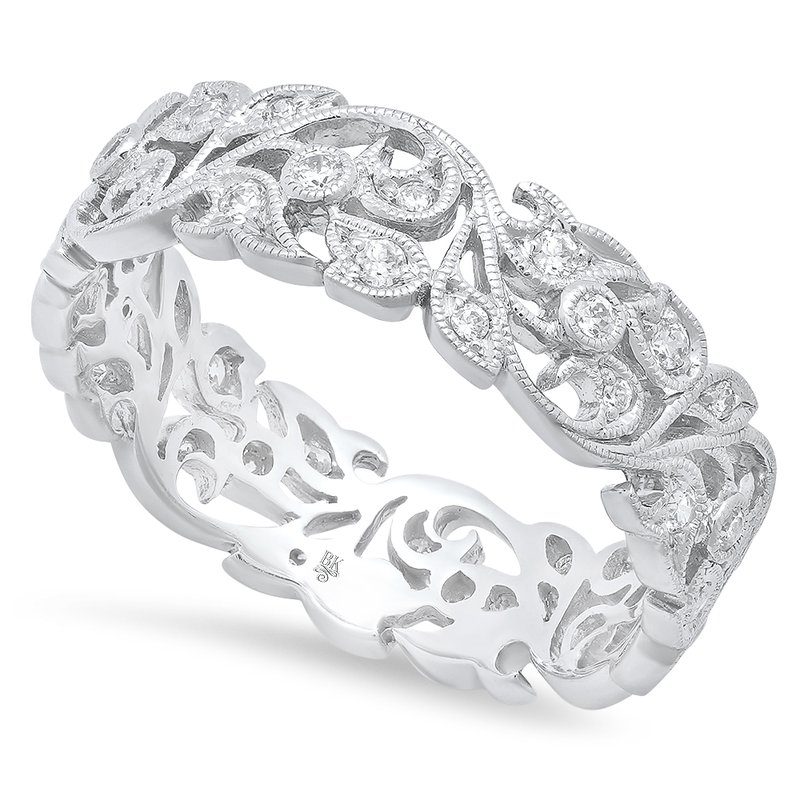 Beverley K Floral Eternity Band 18KW