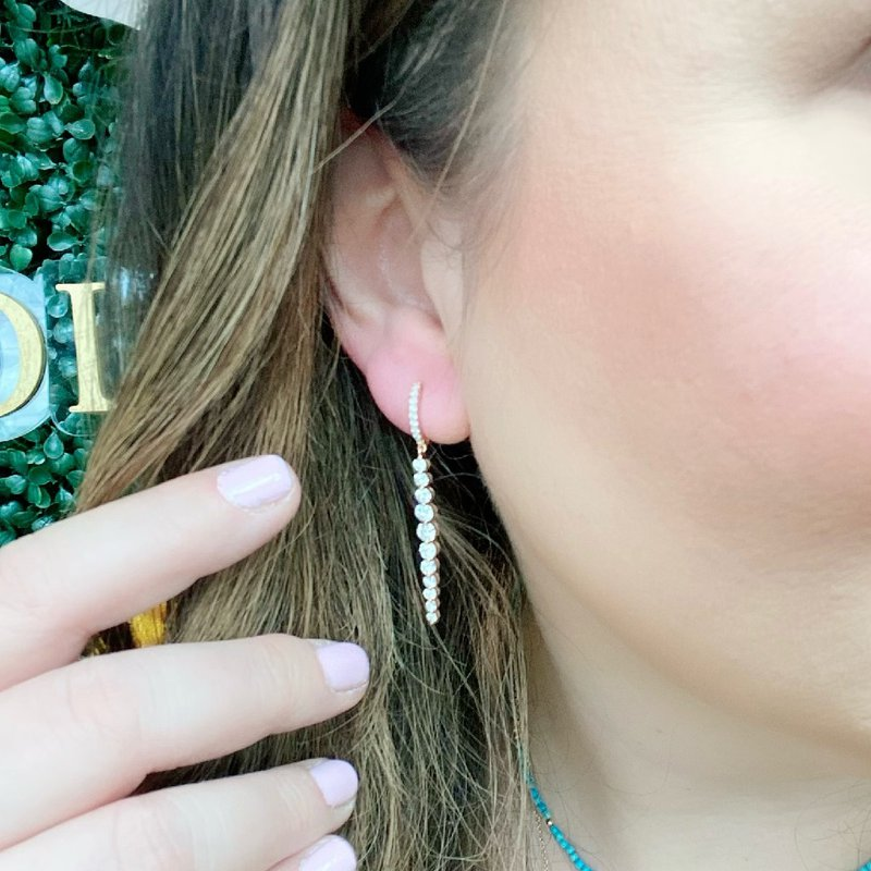 London Gold Designs Diamond Dangles 18K Rose