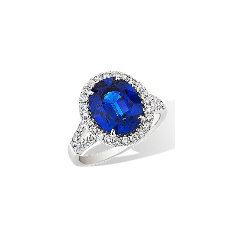 London Gold Designs 4.45CT Sapphire Ring 18KW