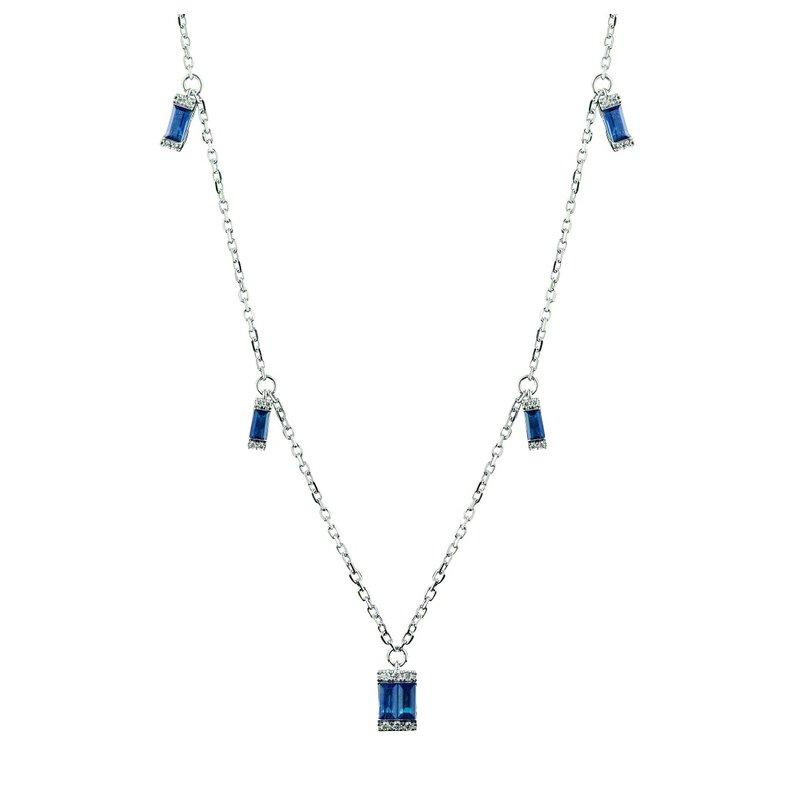 Sophia by Design Diamond & Sapphire Necklace 14KW